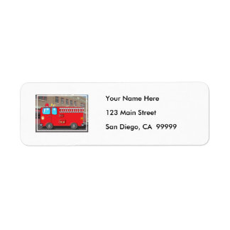 Fabulous Fire Truck and Fire Station Label