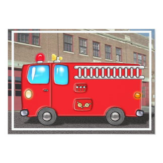 Fabulous Fire Truck and Ladder Card