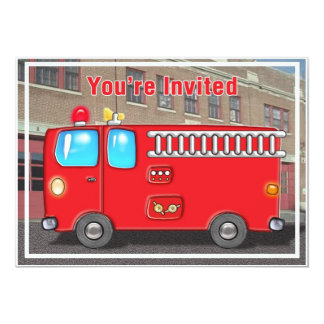 Fabulous Fire Truck and Station Card
