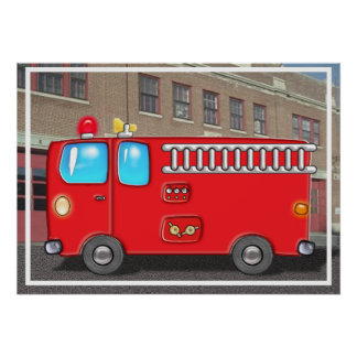 Fabulous Fire Truck and Station Posters