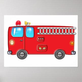 Fabulous Firetruck Poster