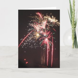 Fabulous Fireworks Holiday Card