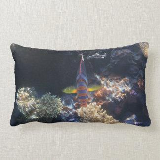 fabulous fish lumbar throw pillow