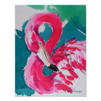 Fabulous Flamingo Bird Tropical Art Print