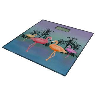 Fabulous Flamingos Bathroom Scale