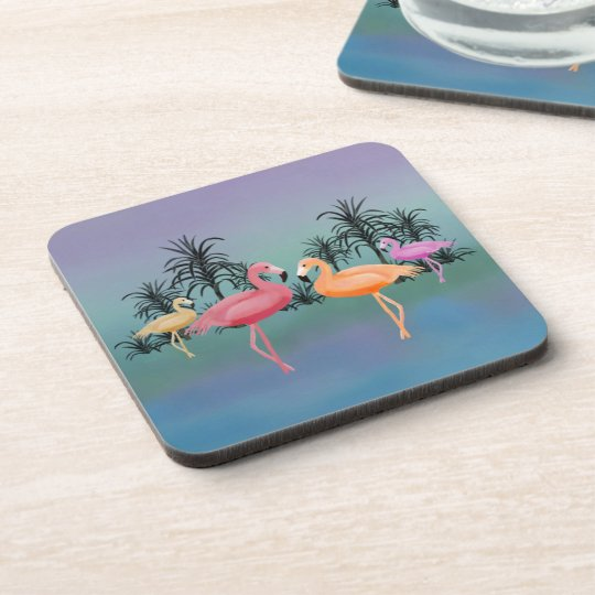 Fabulous Flamingos Coasters