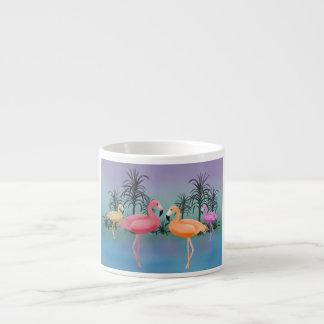 Fabulous Flamingos Espresso Mugs