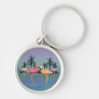Fabulous Flamingos Keychain