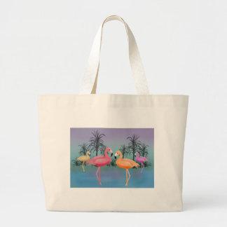 Fabulous Flamingos Large Tote Bag