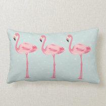 Fabulous Flamingos Lumbar Pillow