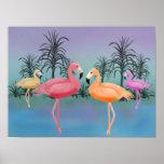 Fabulous Flamingos Print