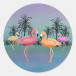 Fabulous Flamingos Stickers