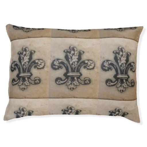Fabulous Fleur de Lis Dog or Floor Cushion Large Dog Bed Zazzle