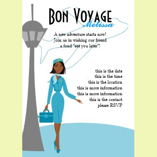 Fabulous Flight Attendant invitation