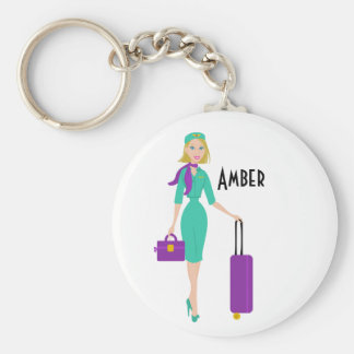 Fabulous Flight Attendant Keychain