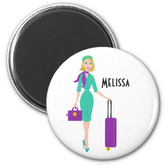 Fabulous Flight Attendant Magnet