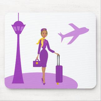 Fabulous Flight Attendant Mouse Pad