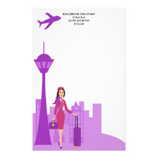 Fabulous Flight Attendant Stationery
