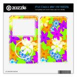 Fabulous flowers decals for the iPod