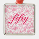 Fabulous Flowery Fifty Ornament (Premium Square)