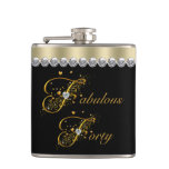 Fabulous Forty Birthday Hip Flask