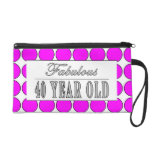 Fabulous Forty Year Old Pink Polka Dots Wristlet Clutch