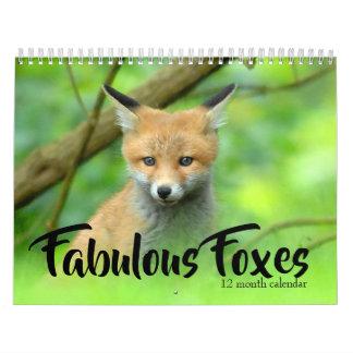 Fabulous Foxes 2019 Calendar