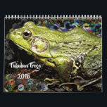 "FABULOUS FROGS 2018 calendar<br><div class=""desc"">Hop through the year with nature! Each month your frog or nature lover will delight in a new photo.</div>"