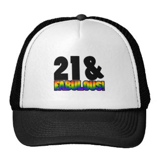 Fabulous Gay 21st Birthday Trucker Hat