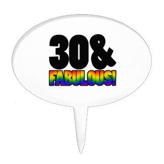 Fabulous Gay 30th Birthday Cake Topper