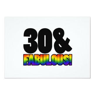 Fabulous Gay 30th Birthday 5x7 Paper Invitation Card