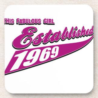 Fabulous Girl established 1969 Beverage Coasters
