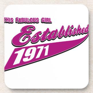 Fabulous Girl established 1971 Beverage Coaster