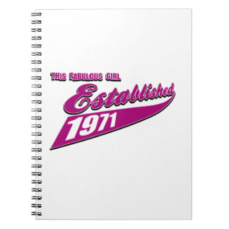 Fabulous Girl established 1971 Spiral Notebook