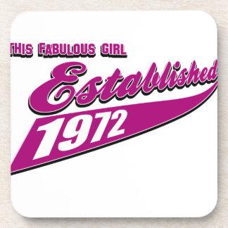 Fabulous Girl established 1972 Drink Coaster