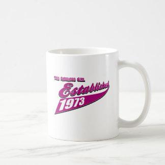 Fabulous Girl established 1973 Classic White Coffee Mug