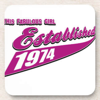 Fabulous Girl established 1974 Beverage Coasters