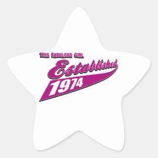 Fabulous Girl established 1974 Star Sticker