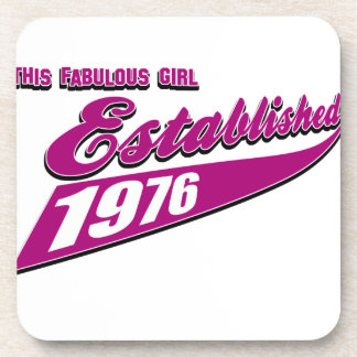 Fabulous Girl established 1976 Beverage Coaster