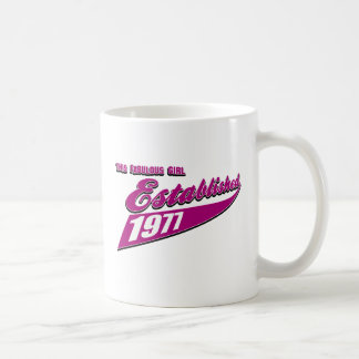 Fabulous Girl established 1977 Coffee Mug