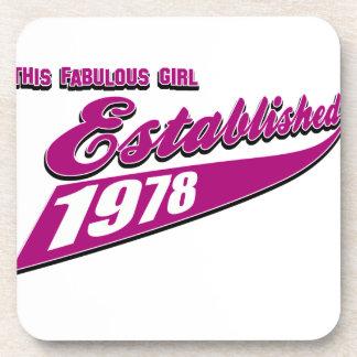 Fabulous Girl established 1978 Coaster