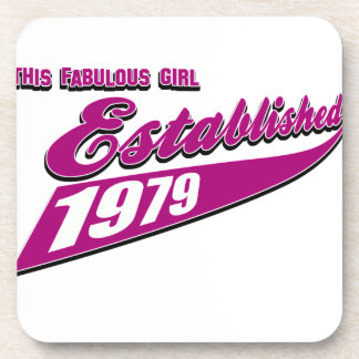 Fabulous Girl established 1979 Coasters