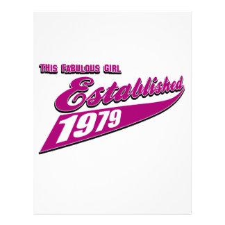 Fabulous Girl established 1979 Letterhead