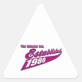 Fabulous Girl established 1980 Triangle Sticker