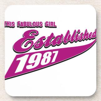 Fabulous Girl established 1987 Drink Coaster