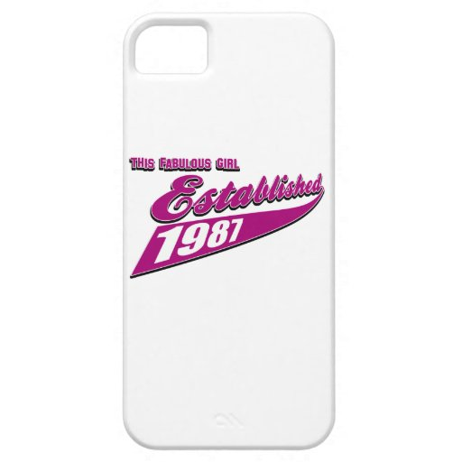Fabulous Girl established 1987 iPhone 5 Cover