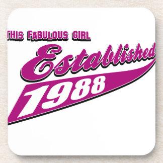 Fabulous Girl established 1988 Coaster
