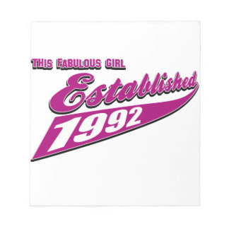Fabulous Girl established 1992 Notepad
