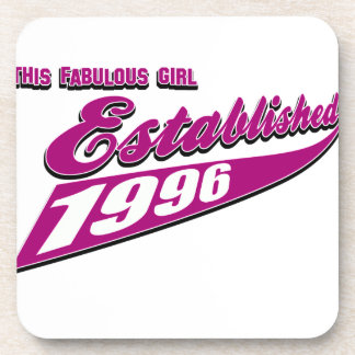 Fabulous Girl established 1996 Beverage Coaster