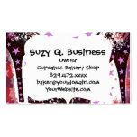 Fabulous Glamourous Pink Purple High Heels Stars Double-Sided Standard Business Cards (Pack Of 100)